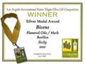 Biceno - Silver Medal Los Angeles International Extra Virgin Olive Oil competition