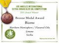 Biceno - 2015 Bronze Medal Aromatizzato Limone - Los Angeles International Extra Virgin Olive Oil competition