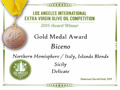 Biceno - 2015 Gold Medal Delicate Blend - Los Angeles International Extra Virgin Olive Oil competition