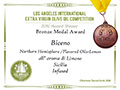 Biceno - 2016 Bronze Medal Aromatizzato Limone - Los Angeles International Extra Virgin Olive Oil competition